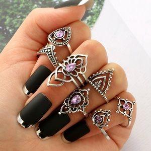 Jewelry - Bohemian Midi Knuckle Rings Set